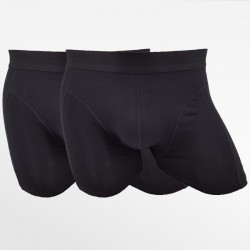 Boxer shorts sous-vêtements bambou 2 pack noir | Ollies Fashion