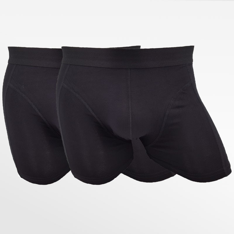 Boxer shorts underwear bamboo 2 pack black | Ollies Fashion
