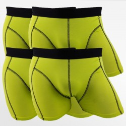 Boxer shorts set homme bambou vert 4 pack | Ollies Fashion