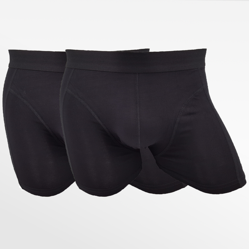 Boxer shorts bamboo underwear black and anthracite 4 pack | Ollies Fashion