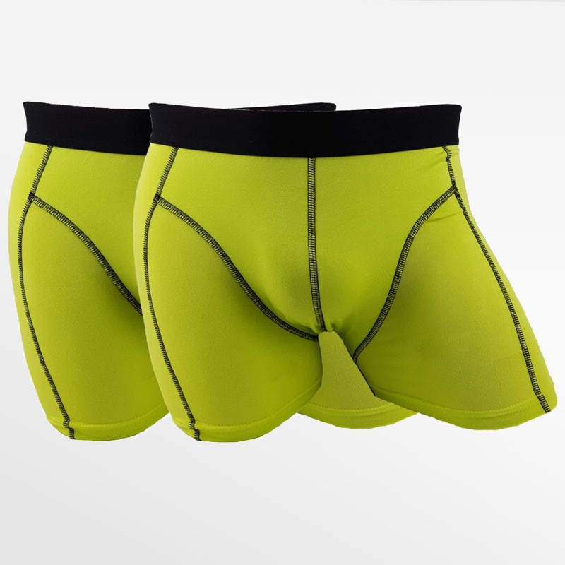 Boxer shorts bamboo anthracite and green 4 pack | Ollies Fashion