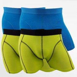 Boxer shorts bamboo men's underwear blue and green 4 pack | Ollies Fashion