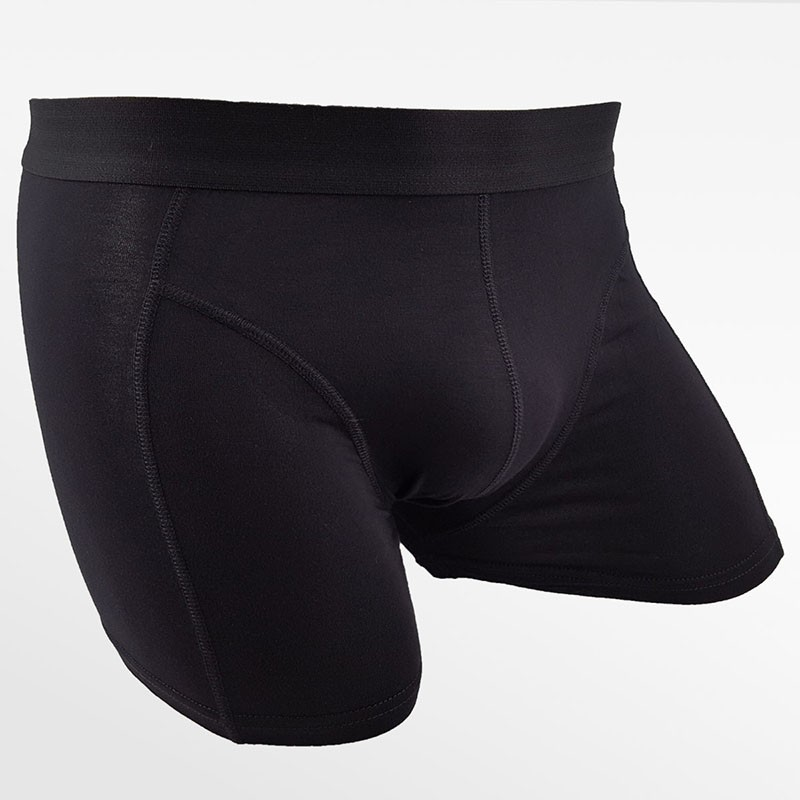 Bamboo underwear boxer shorts 2 pack black and blue | Ollies Fashion