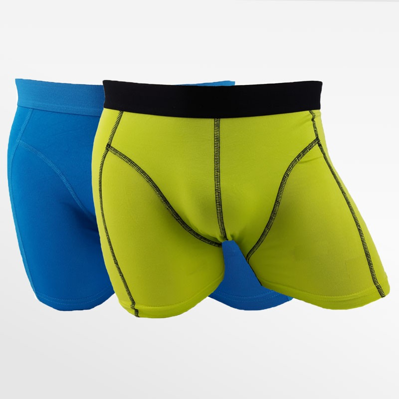 Boxer shorts men's underwear bamboo blue and green 2 pack | Ollies Fashion