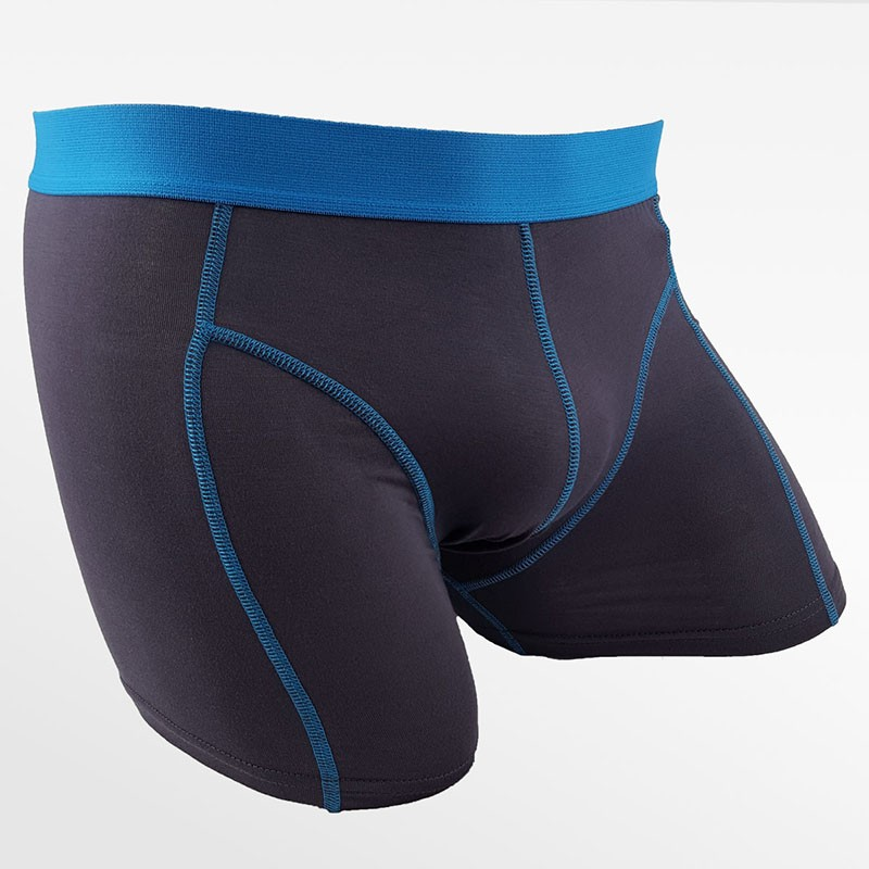 Boxer shorts bambou hommes vert, bleu, noir and anthracite set of 4 | Ollies Fashion
