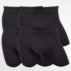 Boxer shorts bamboo man black 4 pack | Ollies Fashion