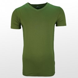 Bamboe T-shirt Green front| Ollies Fashion
