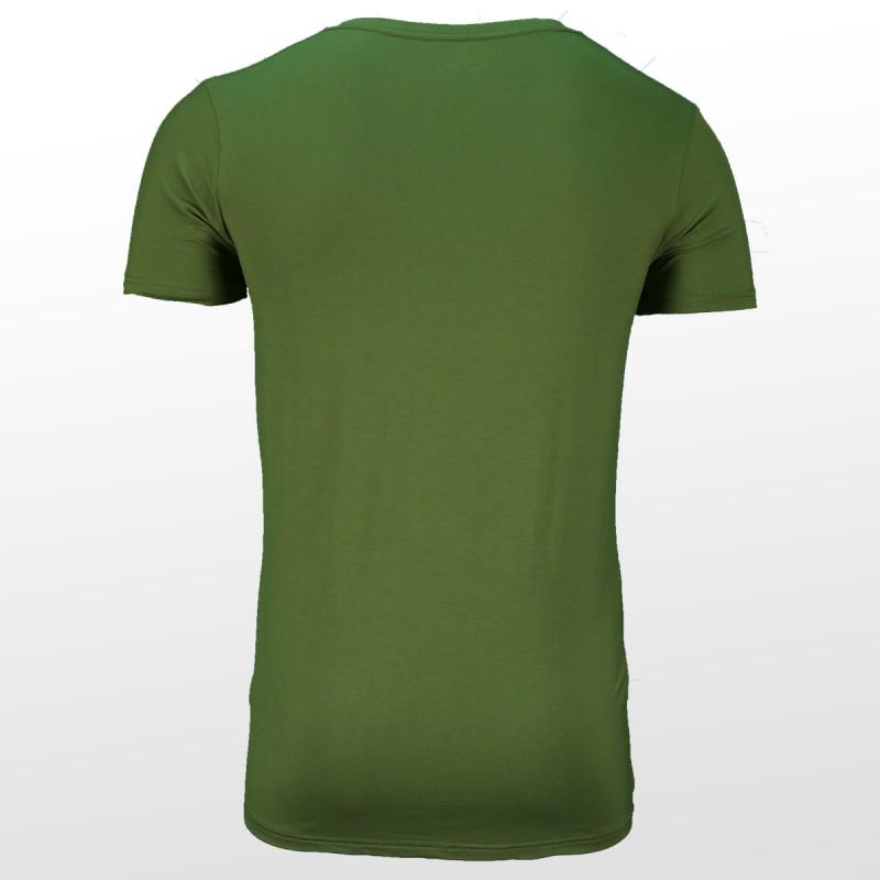 Bamboe T-shirt Groen achterzijde| Ollies Fashion