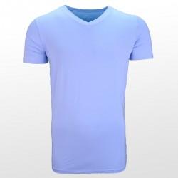Bamboe T-shirt Blauw voorzijde| Ollies Fashion