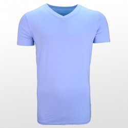 T-shirt en bambou Bleu devant | Ollies Fashion