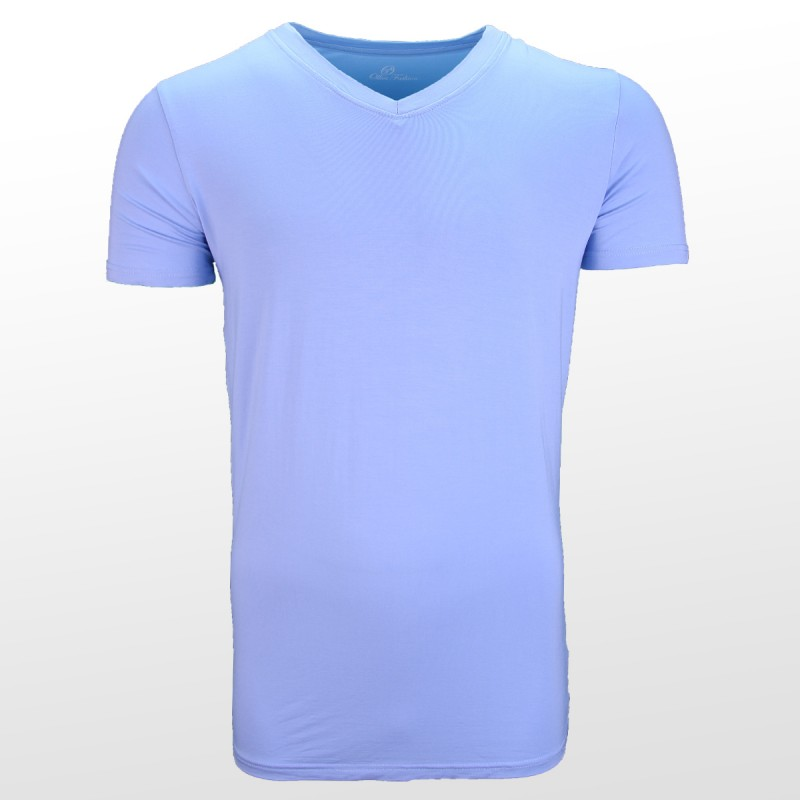 Bamboe T-shirt Blue front| Ollies Fashion