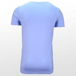Bamboe T-shirt Blue back| Ollies Fashion