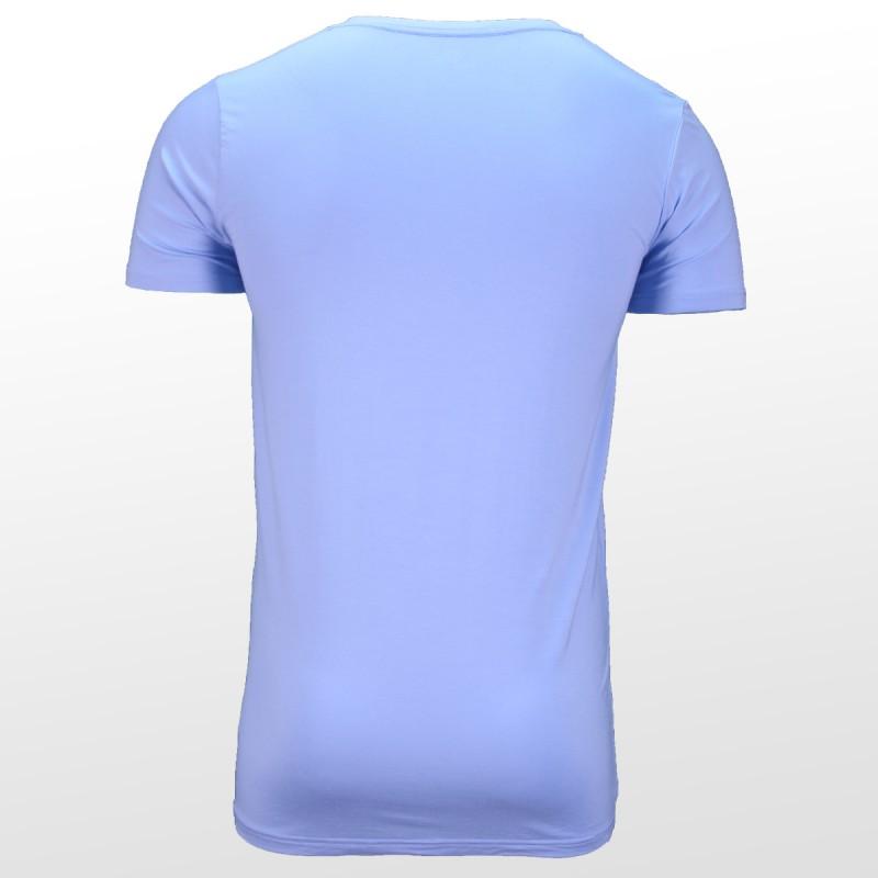 T-shirt en bambou Bleu dos | Ollies Fashion