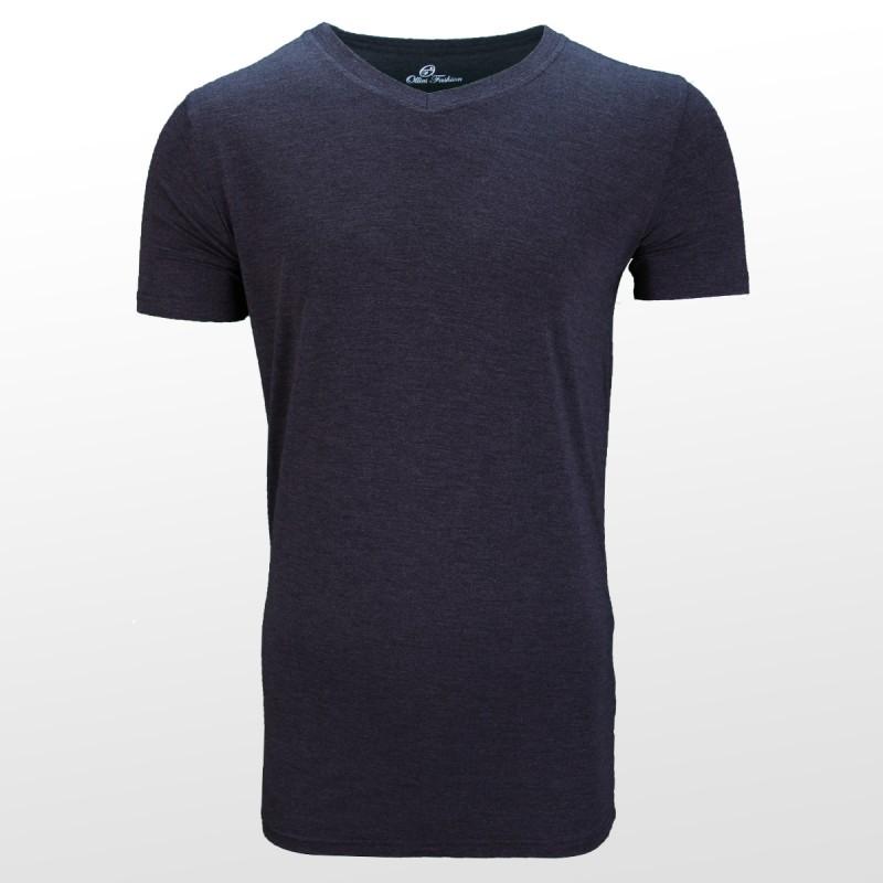 T-shirt en bambou Anthracite devant | Ollies Fashion