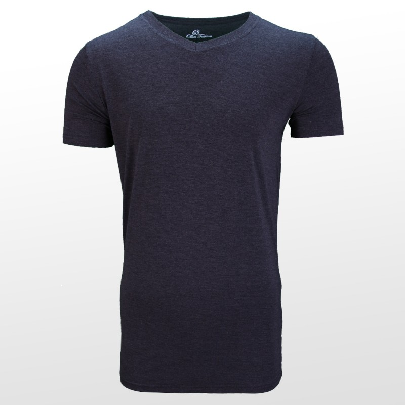 Bamboe T-shirt Anthracite front| Ollies Fashion