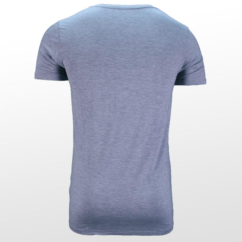 Bamboe T-shirt Grijs achterzijde| Ollies Fashion