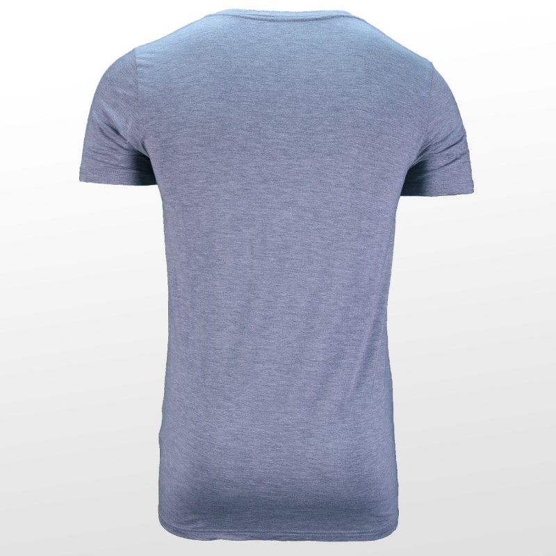 T-shirt en bambou Gris dos | Ollies Fashion