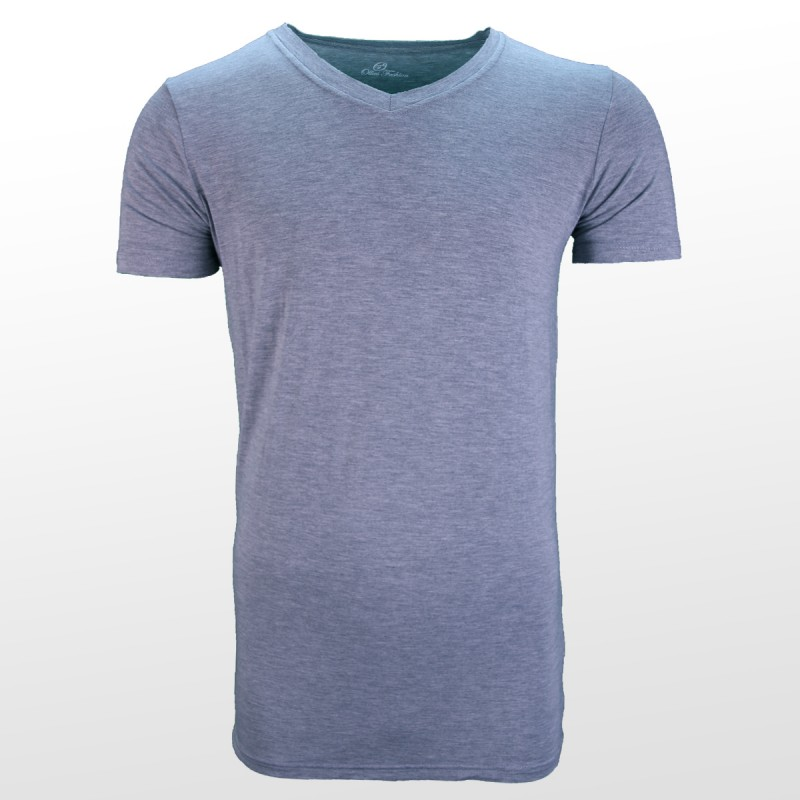 Bambus T-Shirts Grau vorderseite | Ollies Fashion