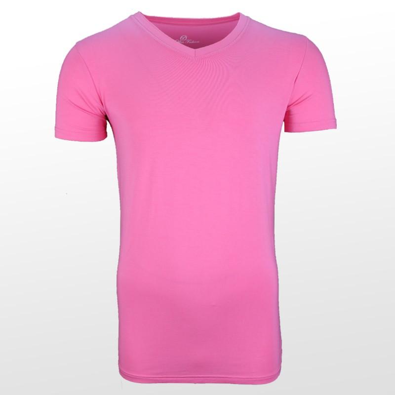 Bamboe T-shirt Roze voorzijde| Ollies Fashion