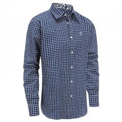 Shirt männer blau weiß kariert, locker geschnitten Ollies Fashion