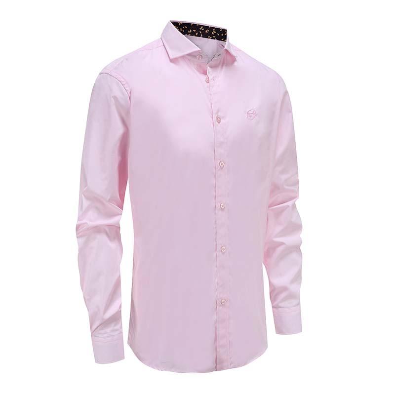 Overhemd heren roze cut away boord Ollies Fashion