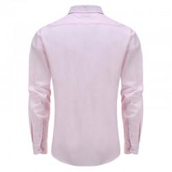 Overhemd heren rose, met ronde achterpand