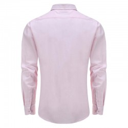 Shirt men rose, with round back