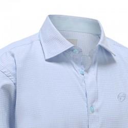 Shirt men light blue diamond Ollies Fashion
