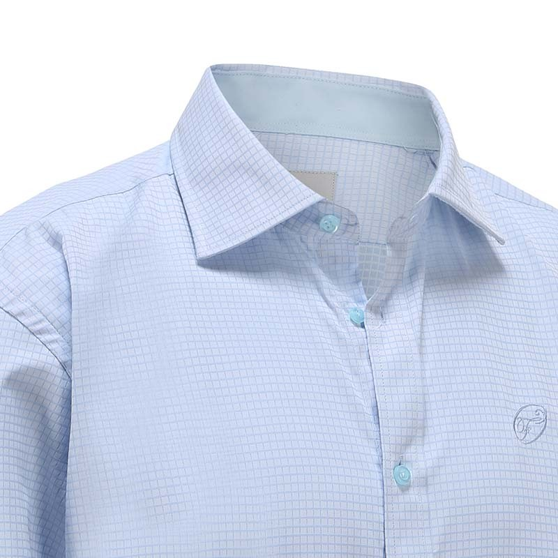 Shirt men light blue diamond Ollies Fashion