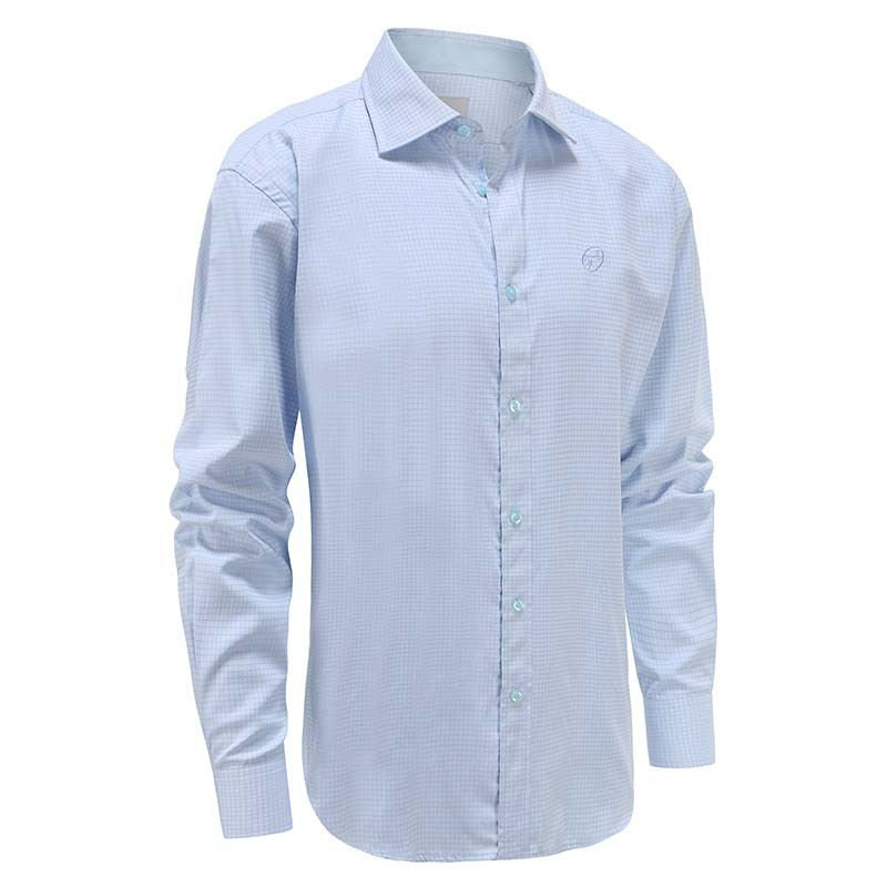 Shirt men light blue diamond, wide collar Ollies Fashion
