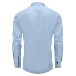 Men's shirt blue, round back Ollies Fashion