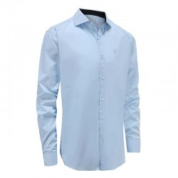 Overhemd heren lichtblauw loose fit Ollies Fashion
