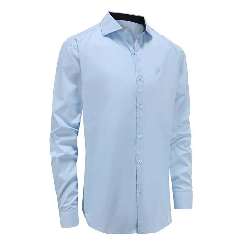 Shirt männer hellblau locker geschnitten Ollies Fashion