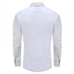 Overhemd heren wit, met ronde achterpand