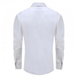 Men's white shirt with round back