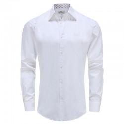 Herrenhemd weiß locker geschnitten Ollies Fashion