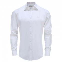Men's shirt white loose fit Ollies Fashion