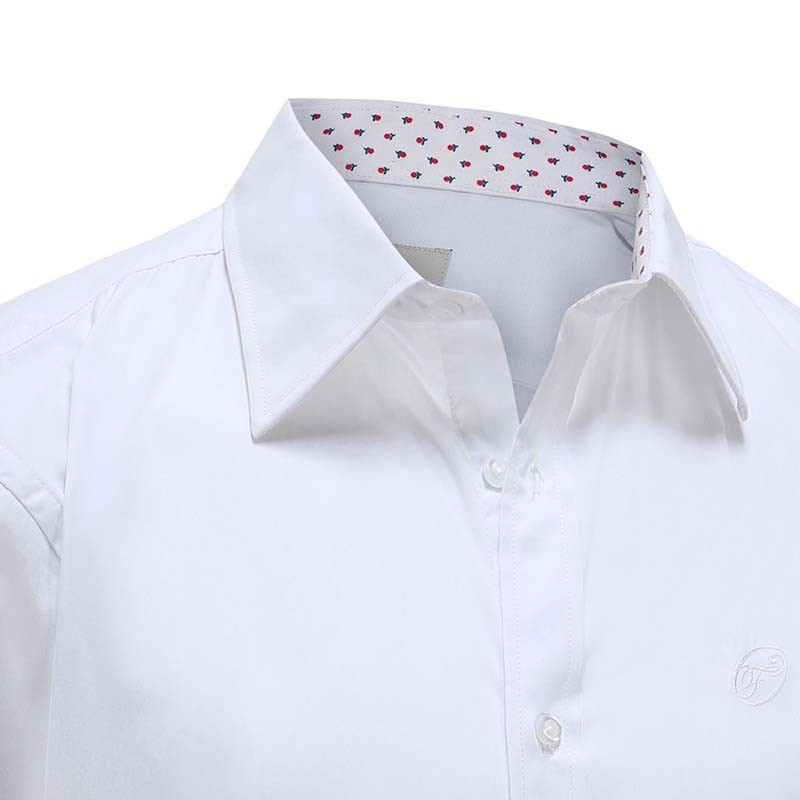 Men's white shirt with classic collar Ollies Fashion