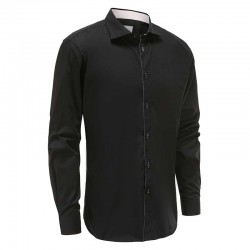 Shirt men black loose fit Ollies Fashion