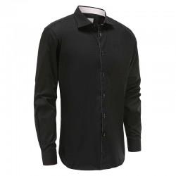 Shirt men black loose fit Ollies Fashion