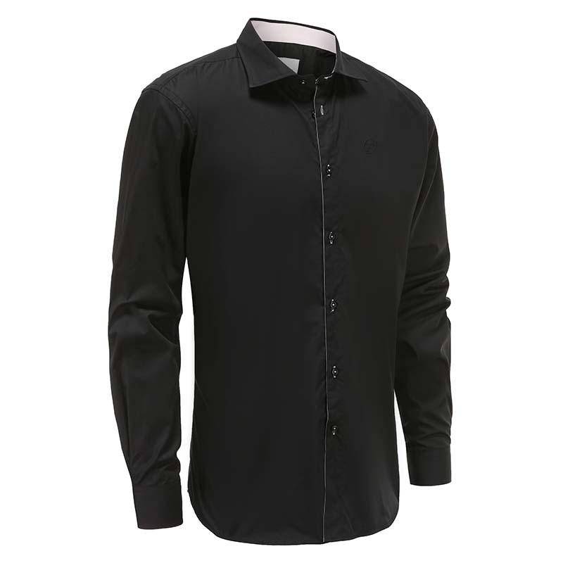 Overhemd heren zwart loose fit Ollies Fashion