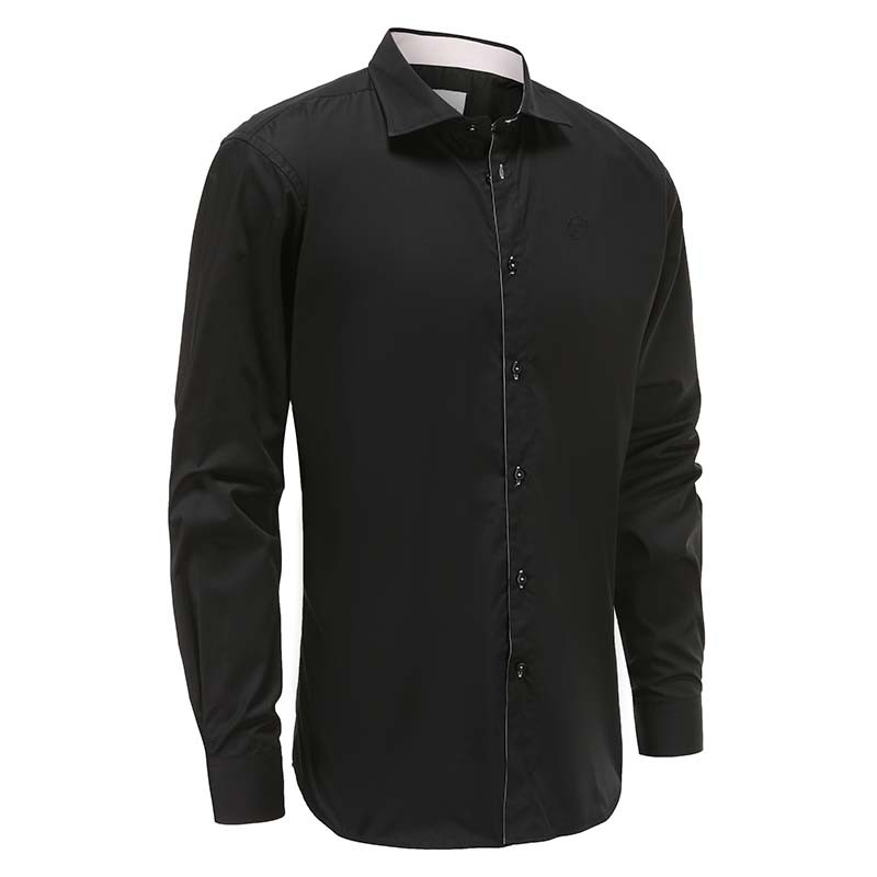 Shirt männer schwarz locker geschnitten Ollies Fashion