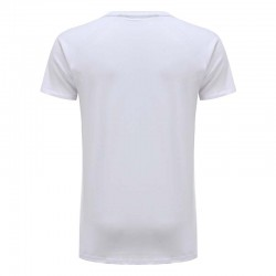 T-Shirt men's white basic jersey cotton Ollies Fashion