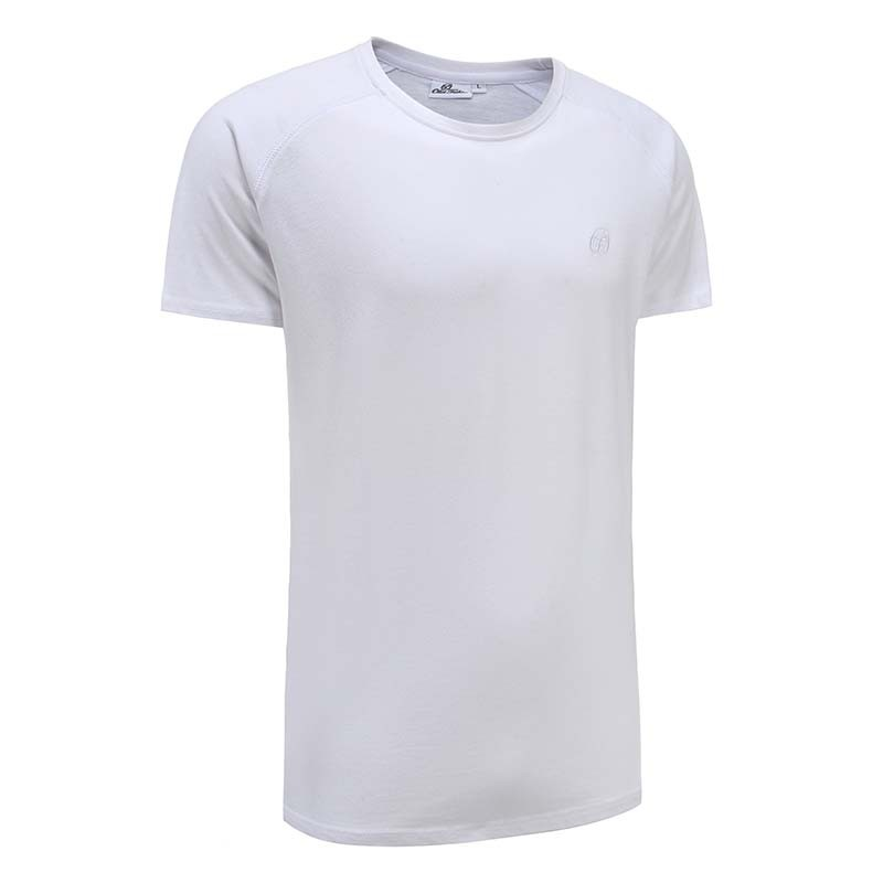 Tshirt heren wit basic Ollies Fashion