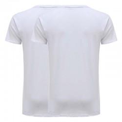 T-shirt basic wit jersey katoen set van 2 Ollies Fashion