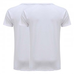 T-Shirt basic weiß jersey baumwolle 2er set Ollies Fashion