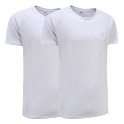 T-shirt basic blanc ensemble de 2 Ollies Fashion