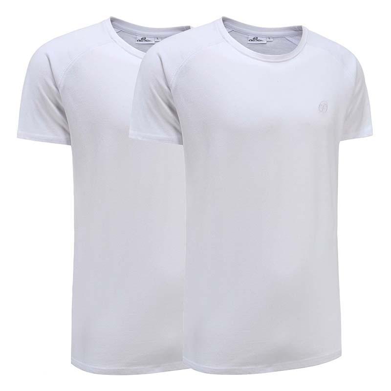 T-shirt basic blanc ensemble de 2 Ollies Fashion