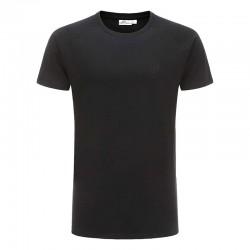 T-shirt en coton noir de base reglan ollies Fashion