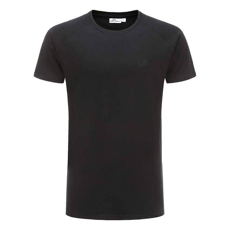 T-shirt en coton noir de base reglan ollies Fashion